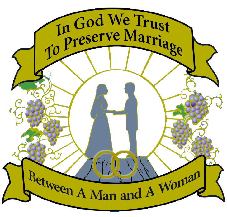 Traditional Marriage emblem - husband-wife
