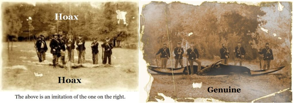 Comparing a hoax-photo with a genuine old photo