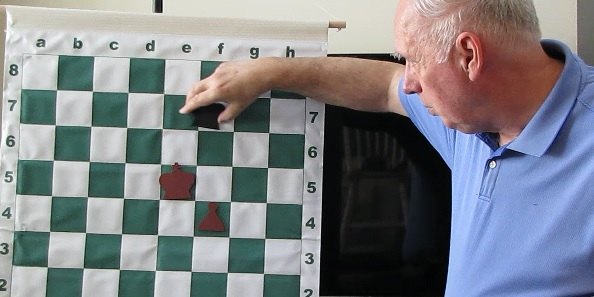 Jonathan Whitcomb instruction in a chess end game