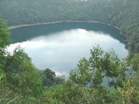 Lake Pung on Umboi Island, home of the ropen