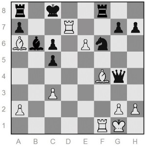 White moved Ba6# with mate