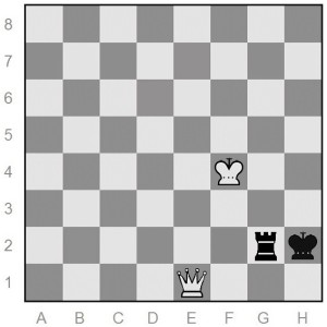 queen-versus-rook end game in chess