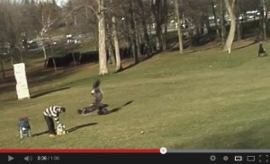 In this Youtube video hoax, it looks like a large predatory bird is capturing a human child