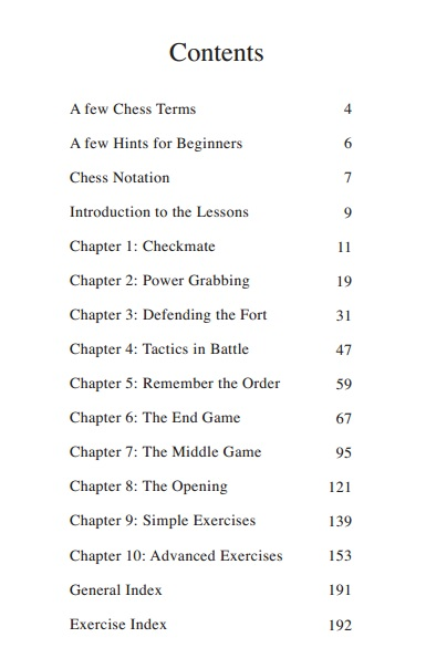 chess book table of contents